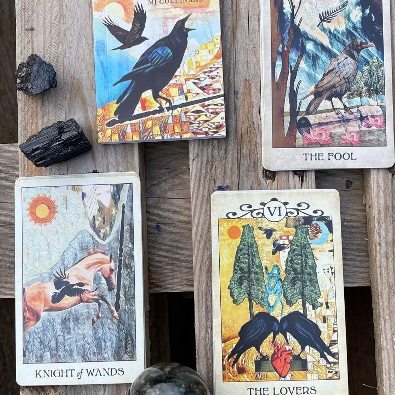 Crow tarot kort eksempler