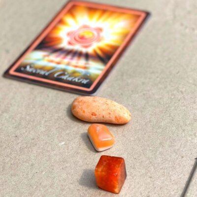 chakra krystalsæt orange